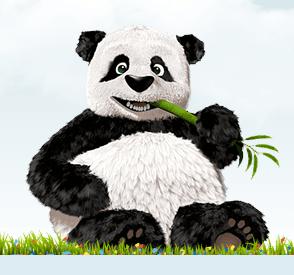 TinyPNGで圧縮したパンダ