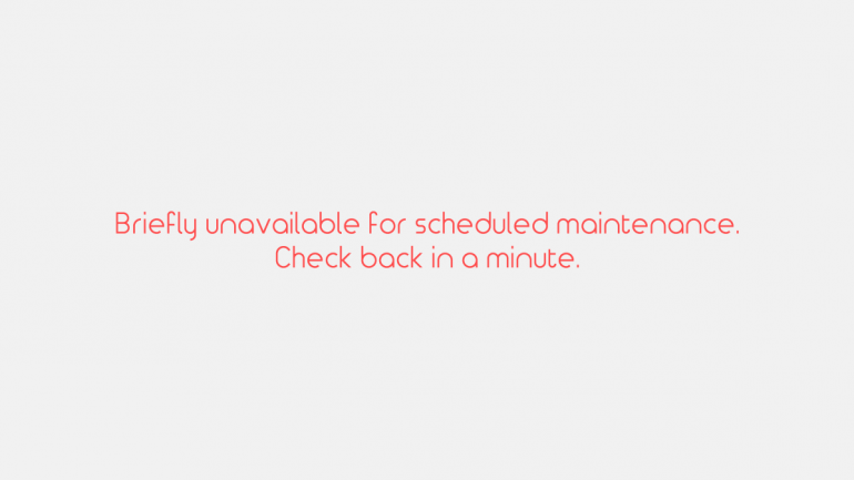 【Wordpress】画面に『Briefly unavailable for scheduled maintenance. Check back in a minute.』と出た時の対処法